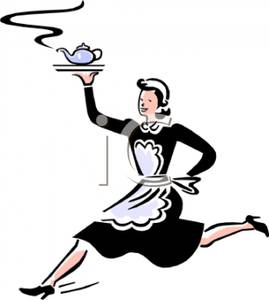 269x300 Art Image A Maid With A Teapot On A Serving Tray