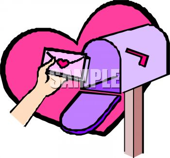 350x325 Royalty Free Clip Art Image Person Putting A Love Letter In A Mailbox