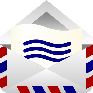 300x300 Barretr Air Mail Envelope Clip Art