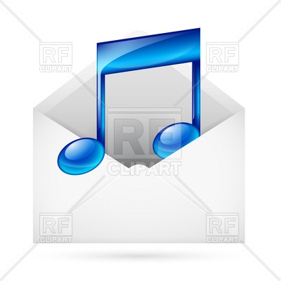400x400 Music Mail Icon Royalty Free Vector Clip Art Image