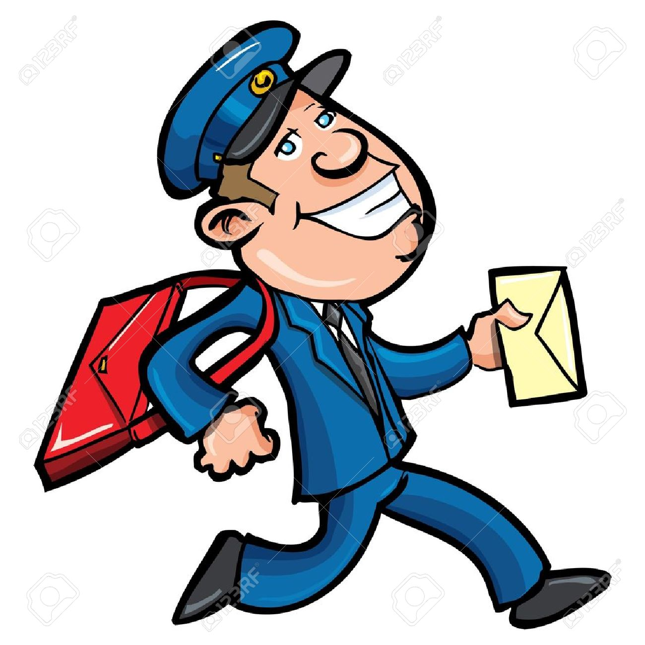 Mail Man Clipart