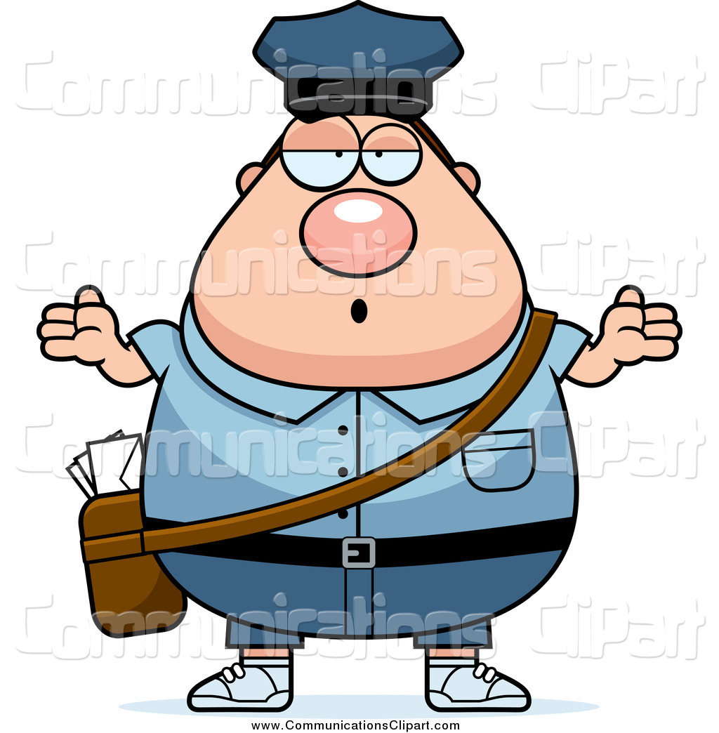 1024x1044 Communication Clipart Of A Careless Shrugging Chubby White Mail