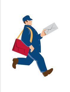 236x312 Fallen Mailbox Clip Art Mailman Clip Art Image Carrying A Large