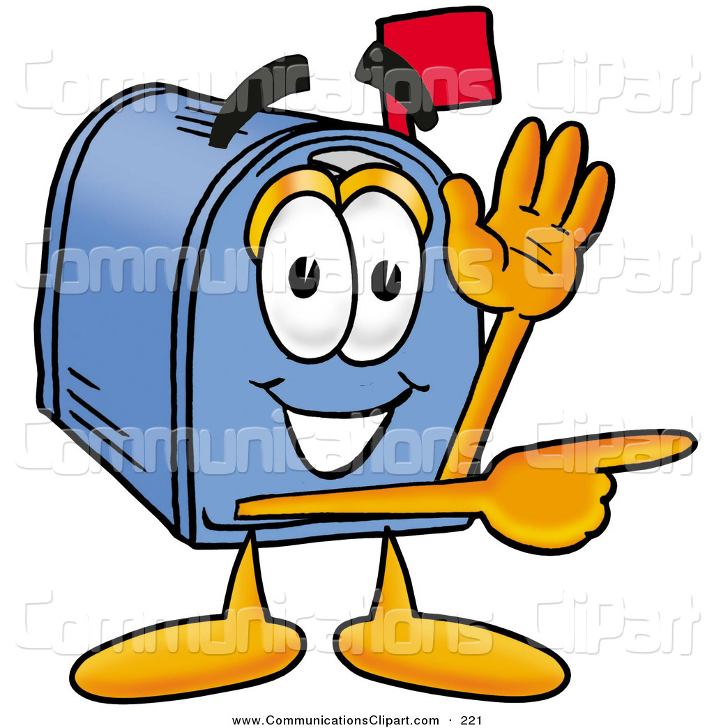 1024x1044 Communication Clipart Of A Cheerful Blue Postal Mailbox Cartoon