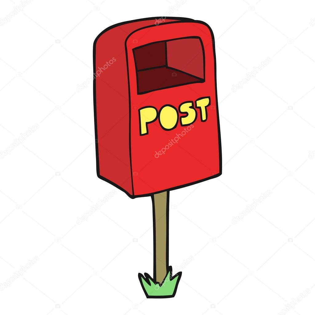 1024x1024 Cartoon Post Box Stock Vector Lineartestpilot