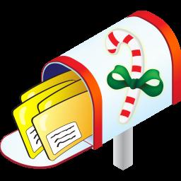 256x256 Christmas Mailbox Icon Standard Christmas Iconset Aha Soft