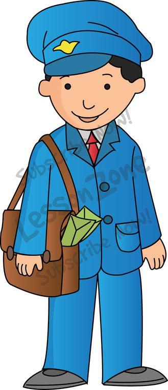 329x761 Clipart Postman