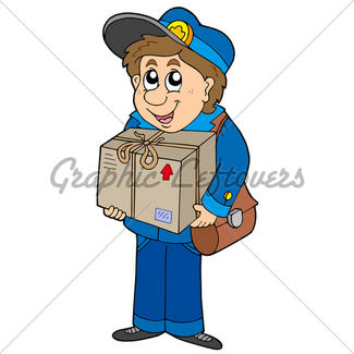325x325 Close Up Of Mailman Delivering Mail To Person Gl Stock Images