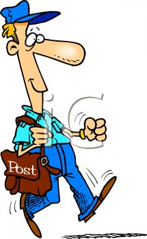 215x350 Royalty Free Clip Art Image Postman Delivering The Mail