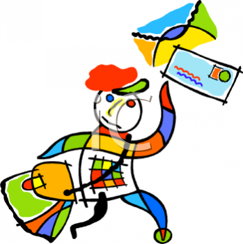 349x350 Royalty Free Postman Clip Art, Occupations Clipart