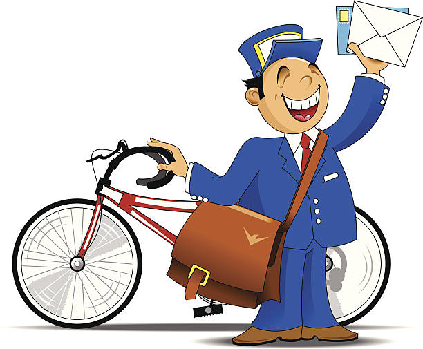 612x505 Bicycle Clipart Postman