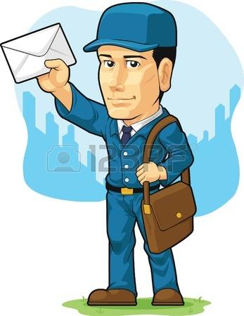347x450 Cartoon Of Postman Or Mailman Royalty Free Cliparts, Vectors,