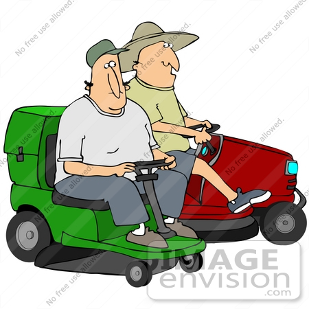 450x450 Clip Art Graphic Of Two Caucasian Men Eying Each Other