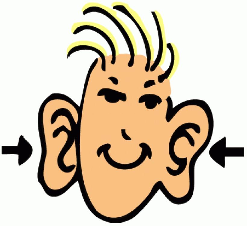 820x752 Cartoon Big Ear Clipart