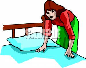 300x238 Make Bed Clipart