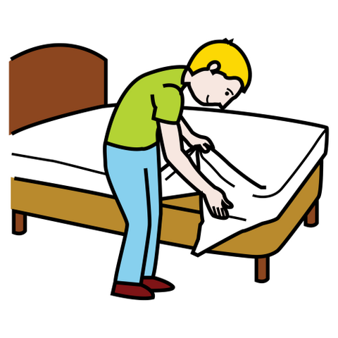 480x480 Make My Bed Clipart 1926825