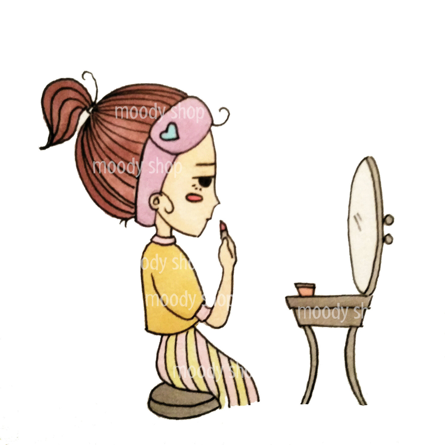 1500x1500 Putting On Makeup Clipart