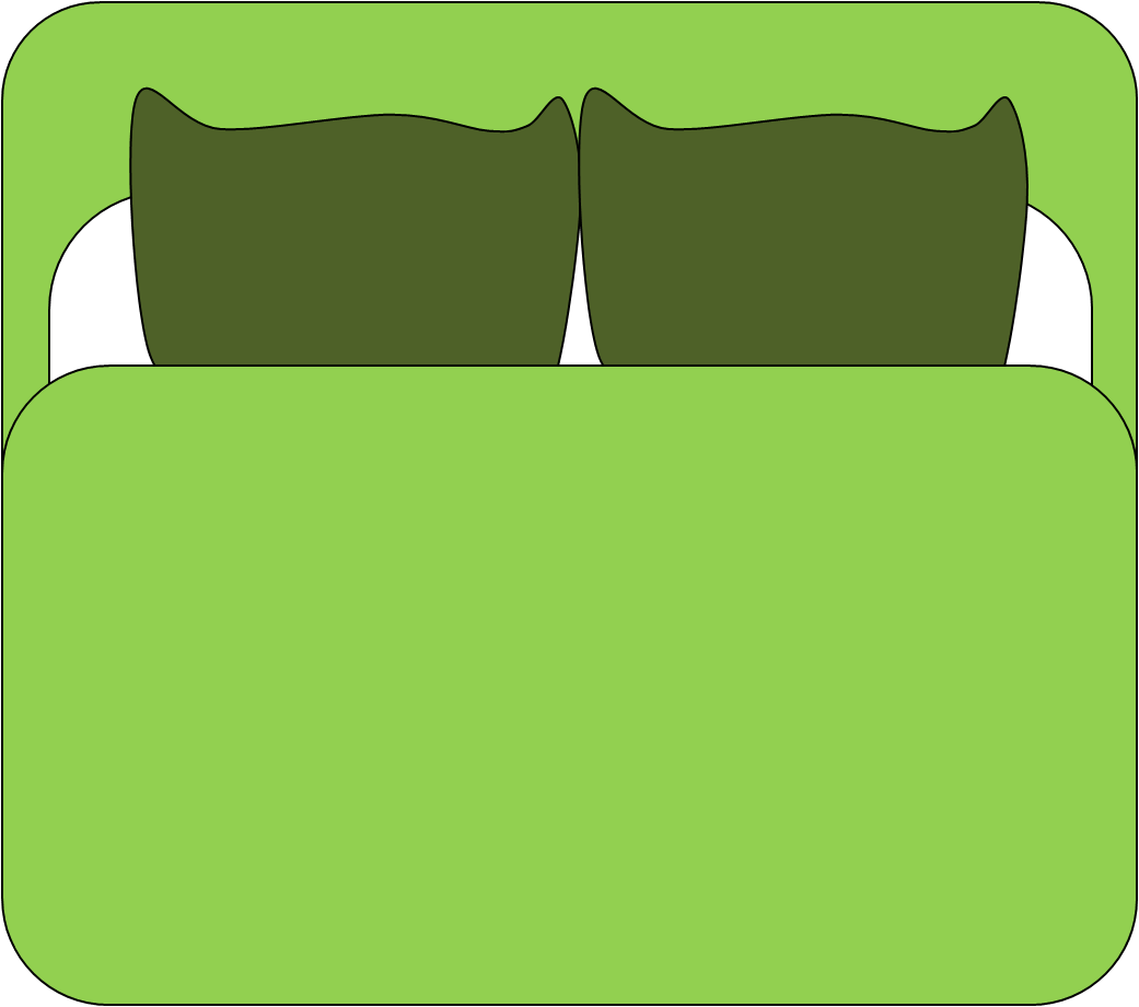 1041x920 Make Bed Dubbal Bed Cartoon Clipart