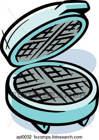 333x470 Clip Art Of Drawing Of A Waffle Maker Apl0032