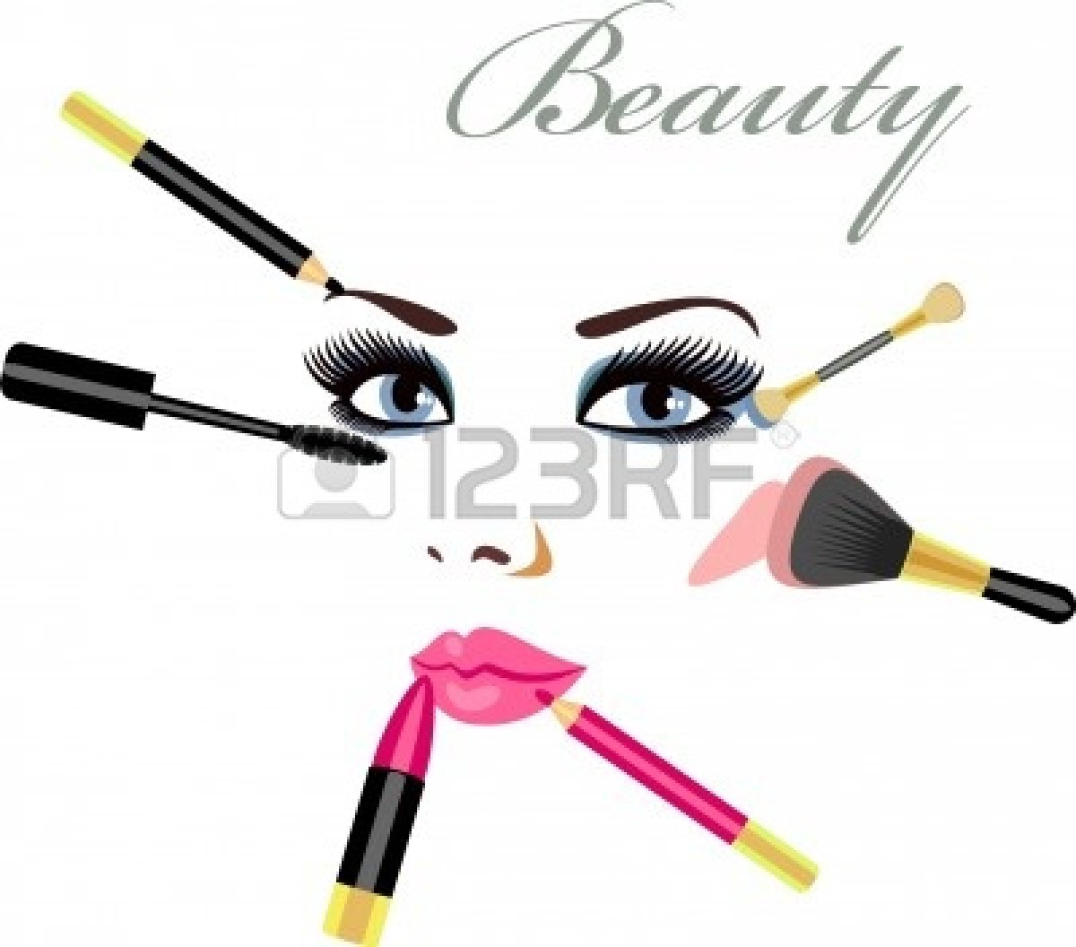 1200x1056 Putting On Makeup Clipart