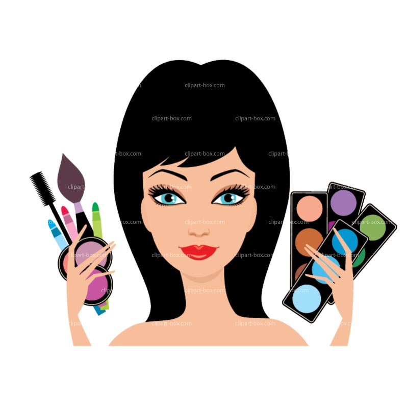 800x800 Putting On Makeup Clipart Kid 2