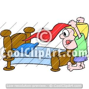300x300 Making Bed Clip Art
