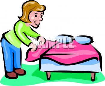 350x286 Woman Making A Bed