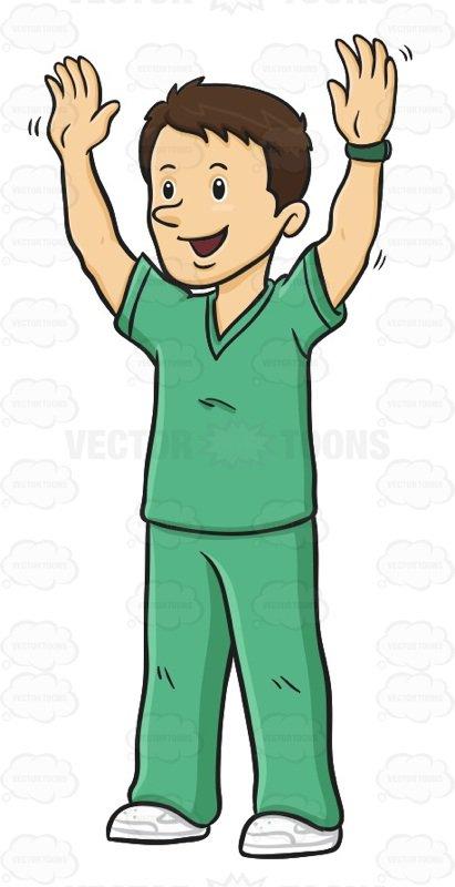411x800 Graphics For Male Nurse Clip Art Graphics