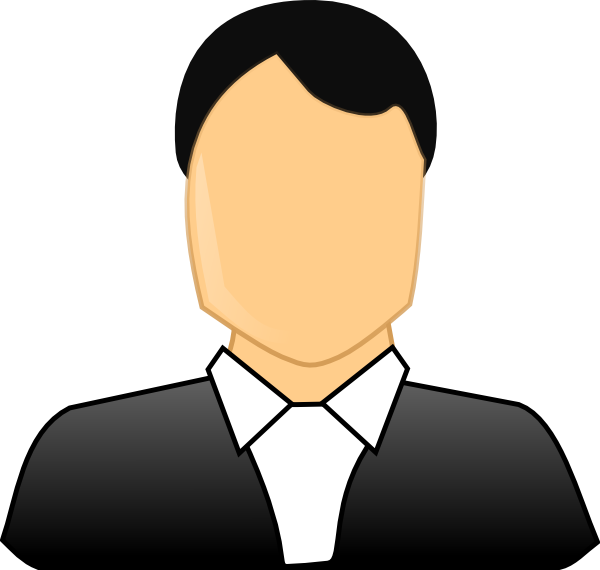 600x570 Male Formal Business Clip Art