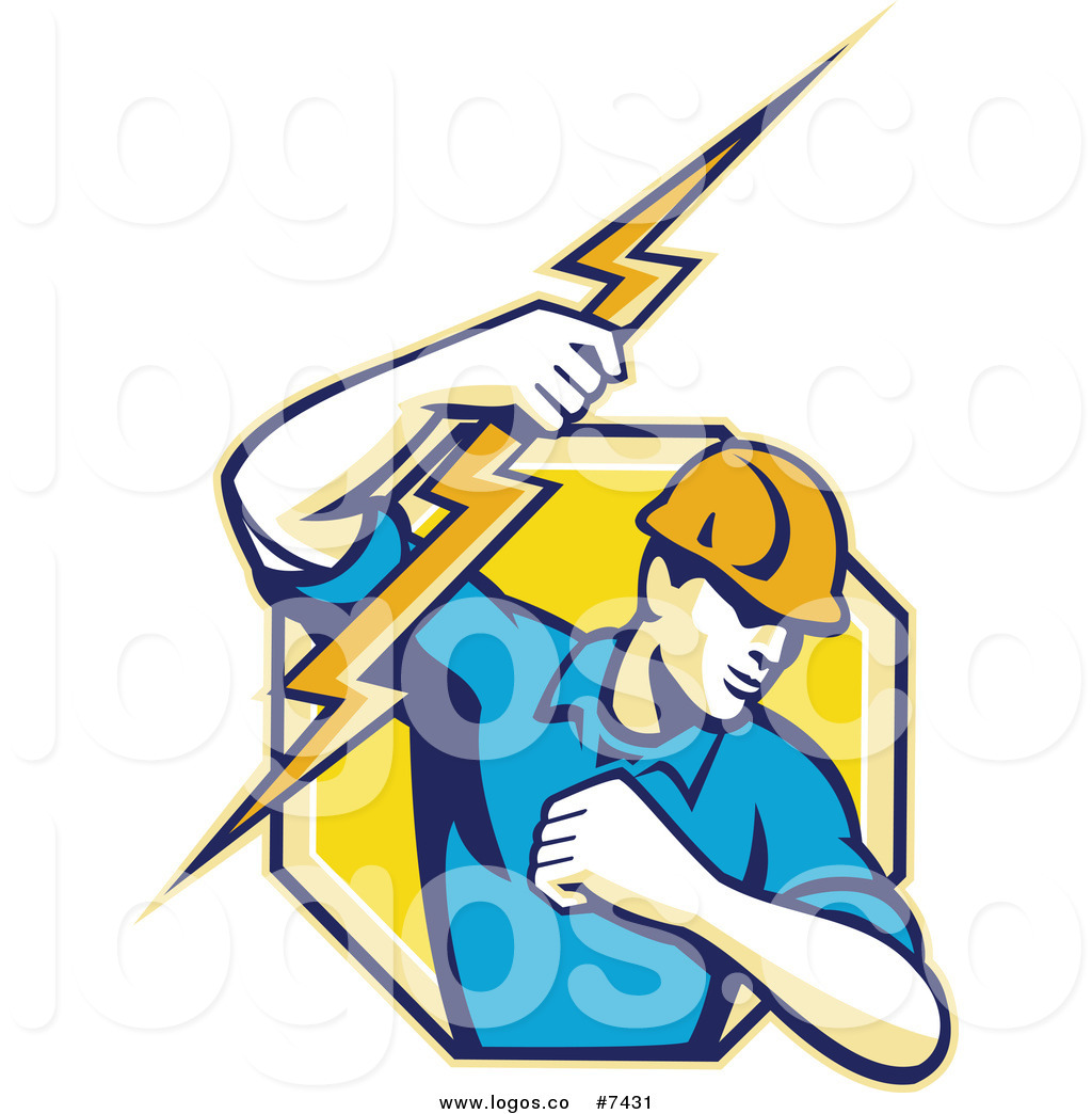 1024x1044 Royalty Free Clip Art Vector Logo Of A Male Electrician Lineman