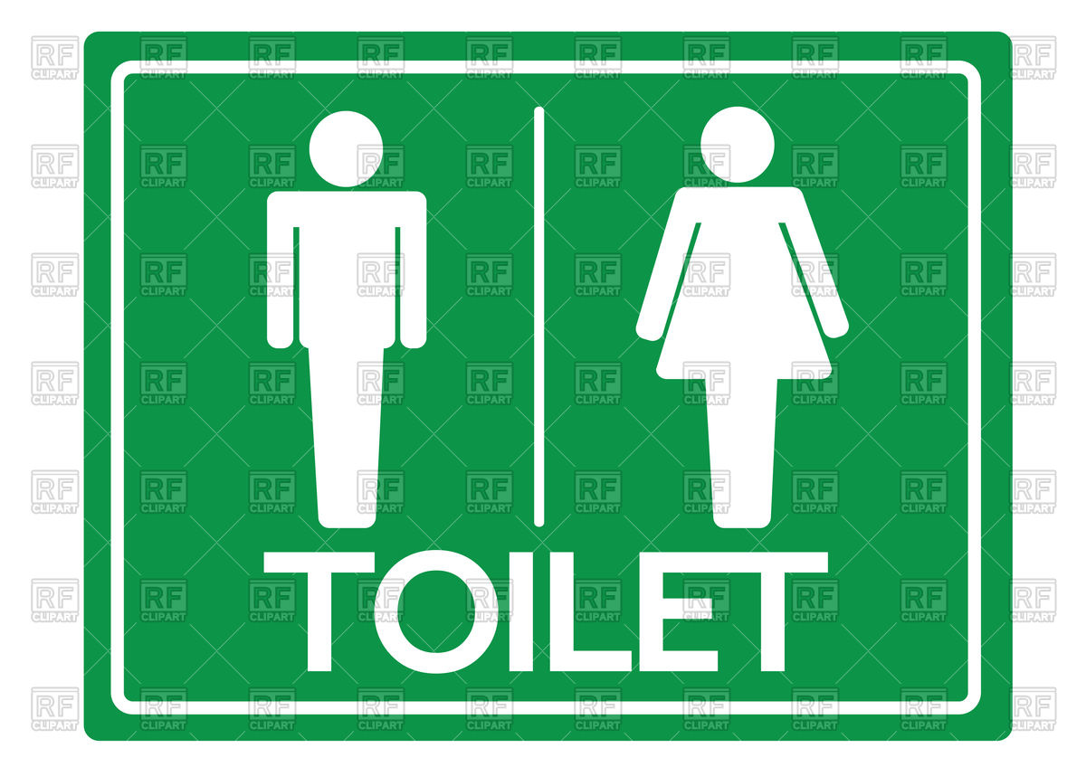 1200x848 Toilet Symbol Male And Female Icon Royalty Free Vector Clip Art