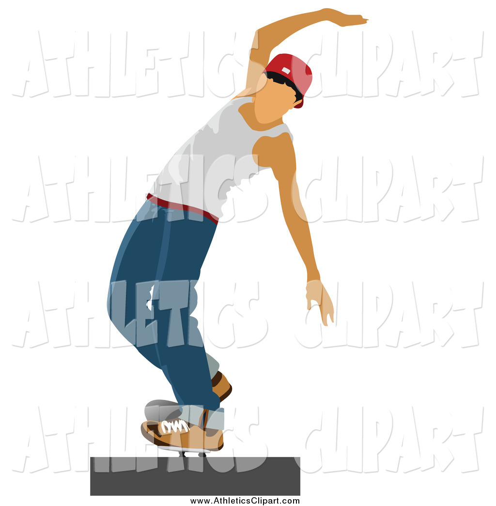1024x1044 Clip Art Of A White Male Teenage Skateboarder Trying To Maintain