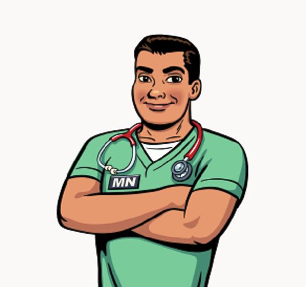 Male Nurse Cartoon Clipart