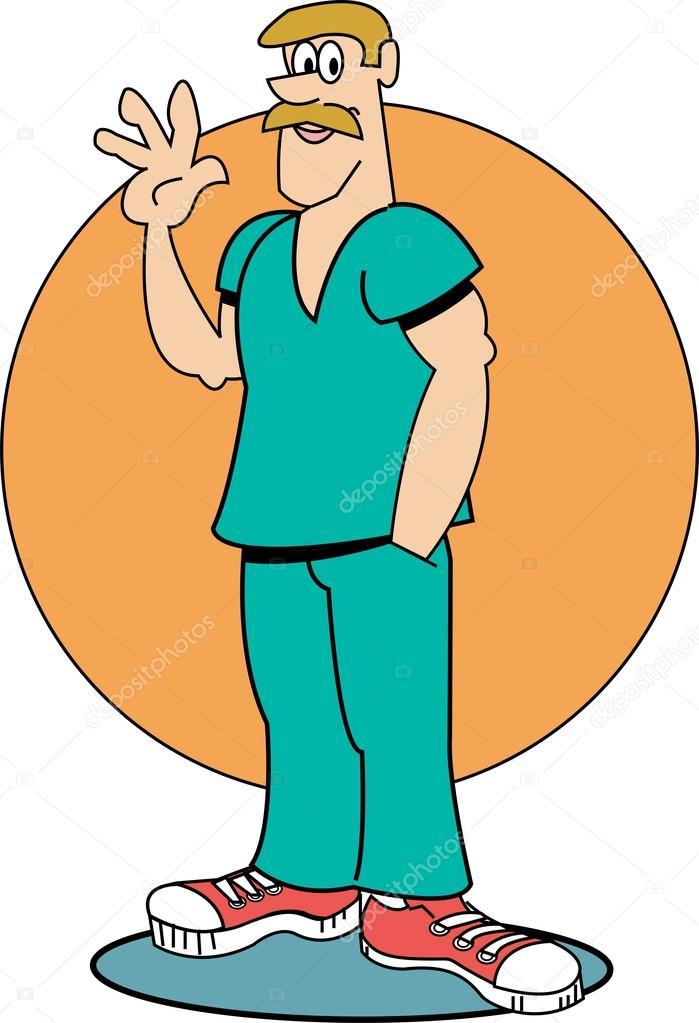 699x1023 Male Nurse Stock Vector Clipartguy