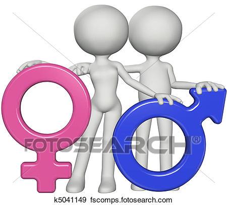 450x407 Stock Illustration Of Boy And Girl Male Female Gender Sex Symbols