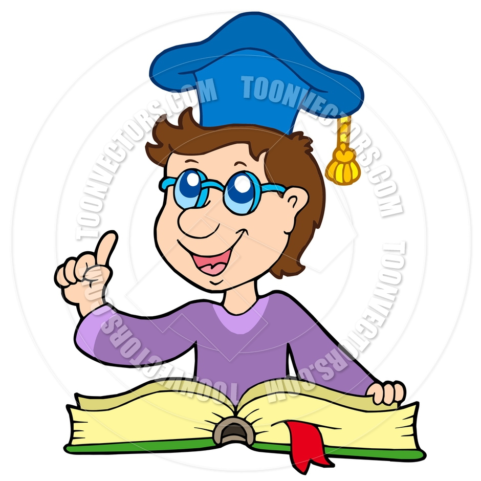 940x940 Cartoon Teacher With Book By Clairev Toon Vectors Eps