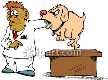 350x260 Dog Biting Man, Veterinarian Clip Art