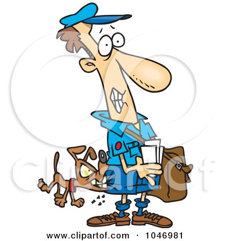 450x470 Royalty Free (Rf) Clip Art Illustration Of A Cartoon Mail Man