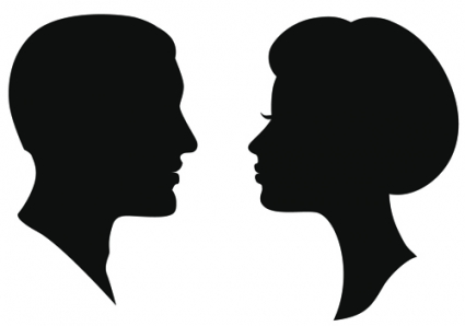425x298 Creative Man And Woman Silhouettes Vector Set Free Vectors Ui