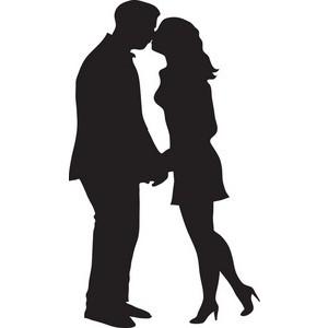 300x300 Kiss Clipart Silhouette