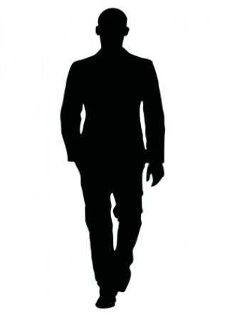 316x448 Male Silhouette Clipart