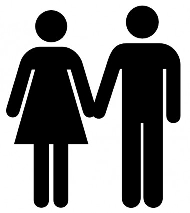 380x425 Man And Woman Icon Clip Art Silhouette Clip Art