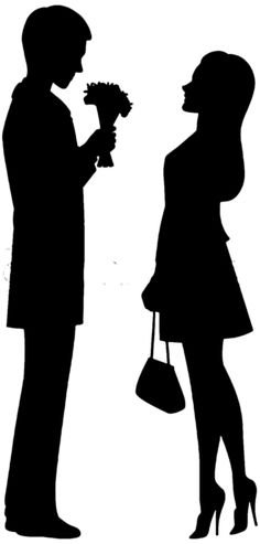 236x493 Man And Woman Silhouette Clip Art Couple Clipart Image