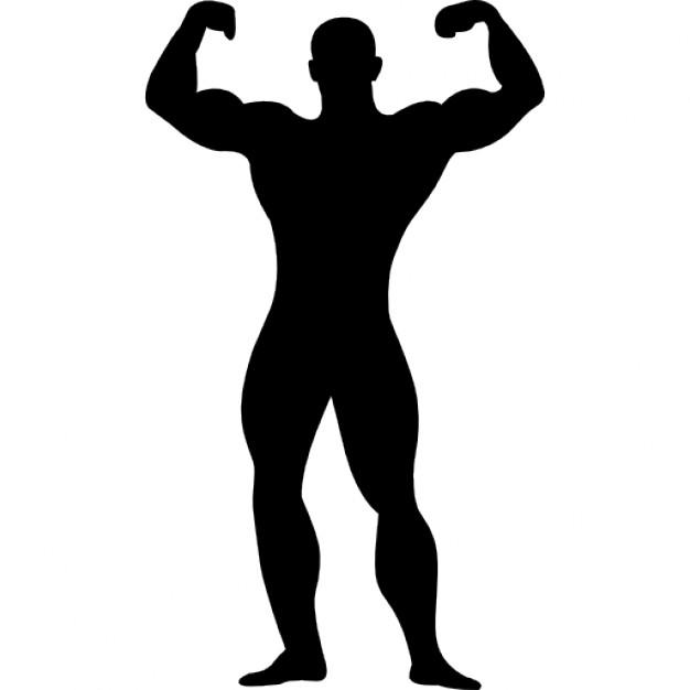 626x626 Muscle Man Silhouette Clip Art