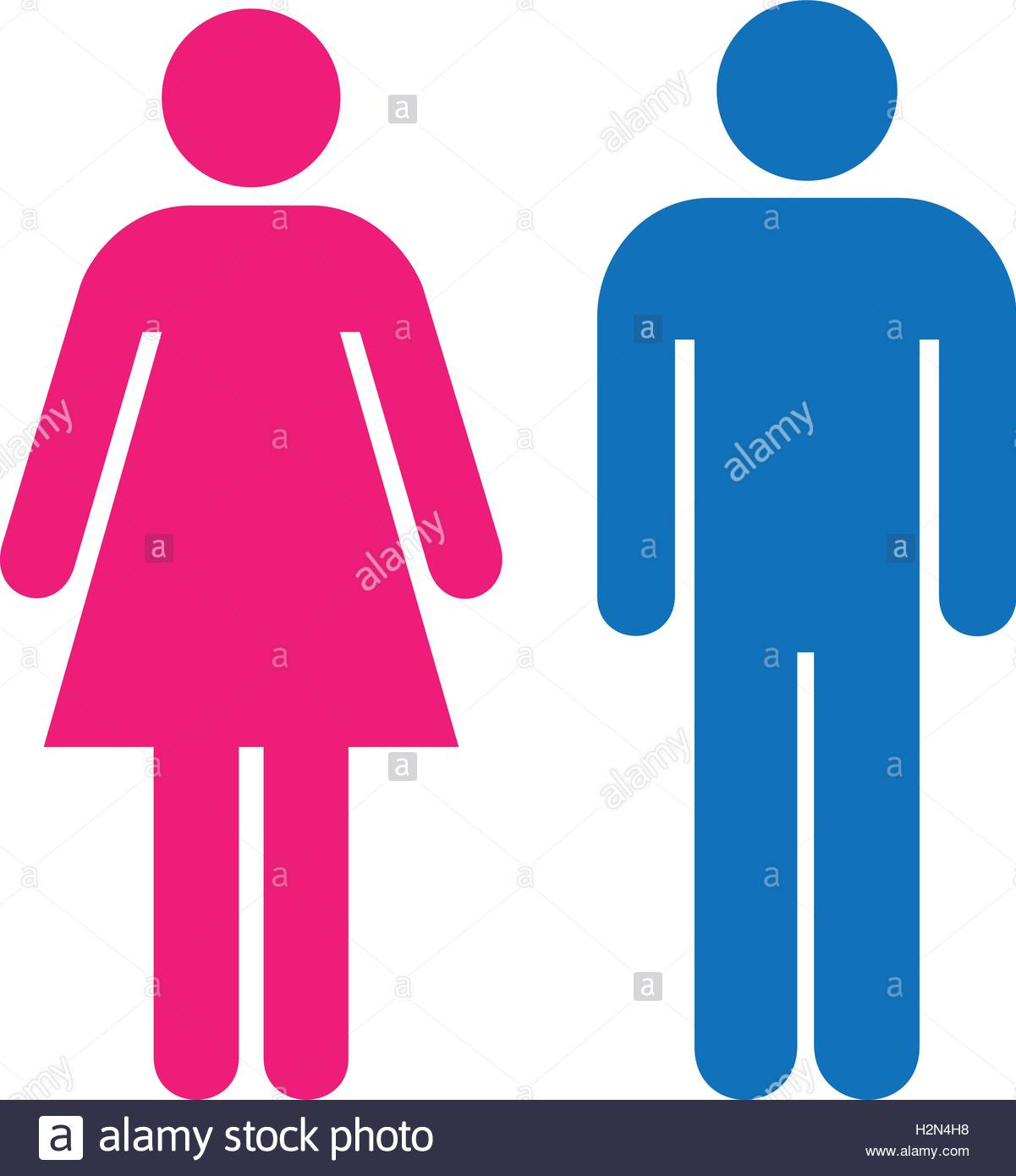 1201x1390 Restroom Sign. A Blue Man And A Pink Lady Toilet Sign. People