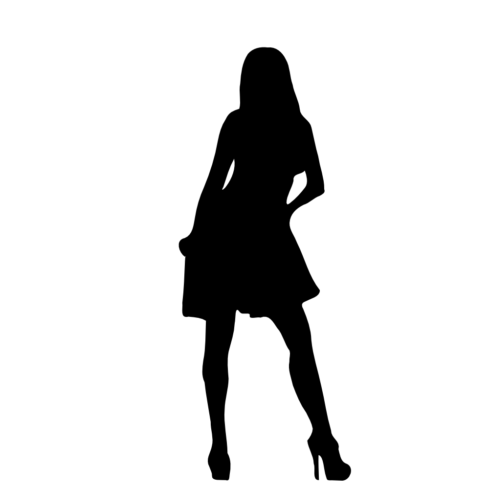 1000x1000 Woman Silhouette Clip Art Many Interesting Cliparts