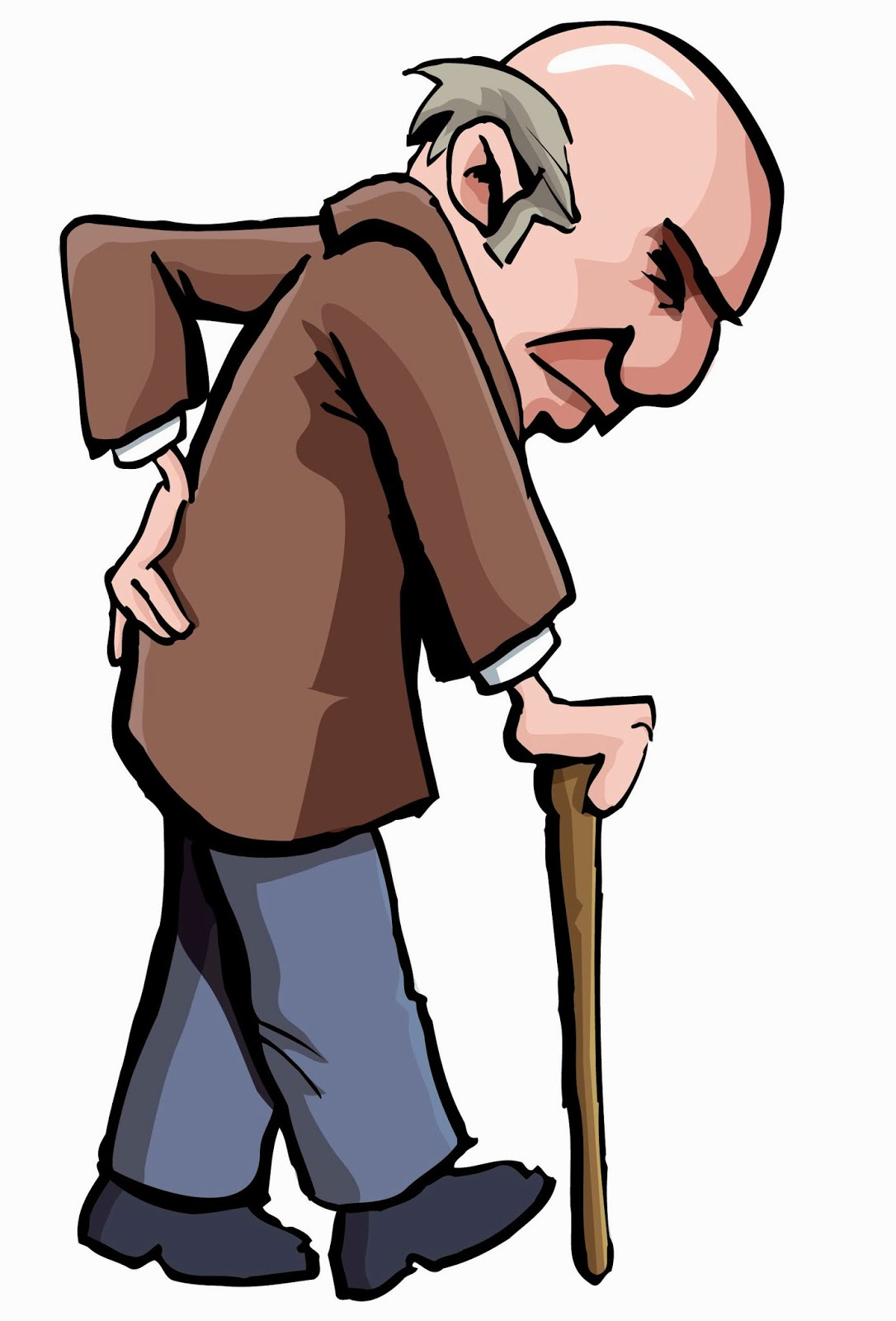 Thinking elderly. Man clipart free download