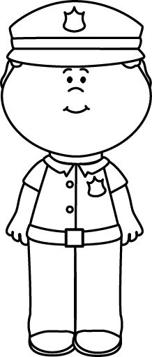 218x512 Cop Clipart Black And White