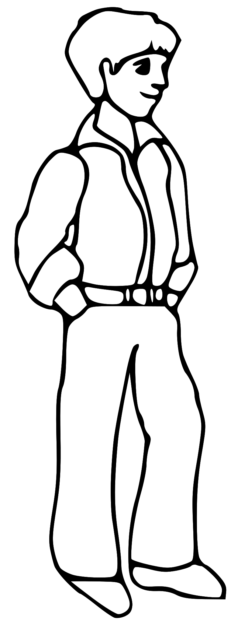 783x2063 Man Clipart Black And White