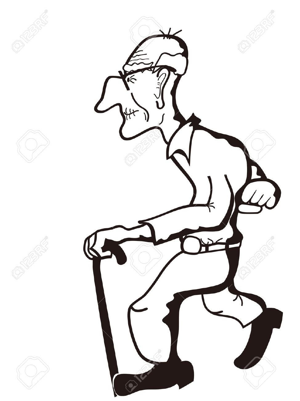 974x1300 Old Man Clipart Black And White